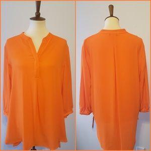 Peter Nygard/womens/3/4 sleeve/orange/tunic/size16